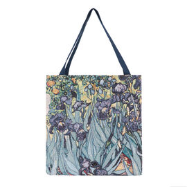 SIGNARE-Tapestry Collection - Van Gogh Iris Art Shoulder Tote Bag ( 37 x 36 x 6 Cms )