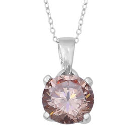 Colour Change ELANZA Swiss Star Colour Change Light Green and Morganite Cubic Zirconia (Rnd) Pendant