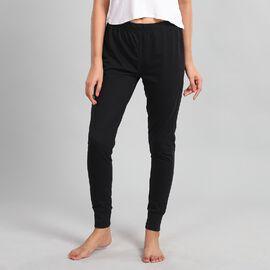100% Cotton Single Jersey Loungewear Leggings in Black