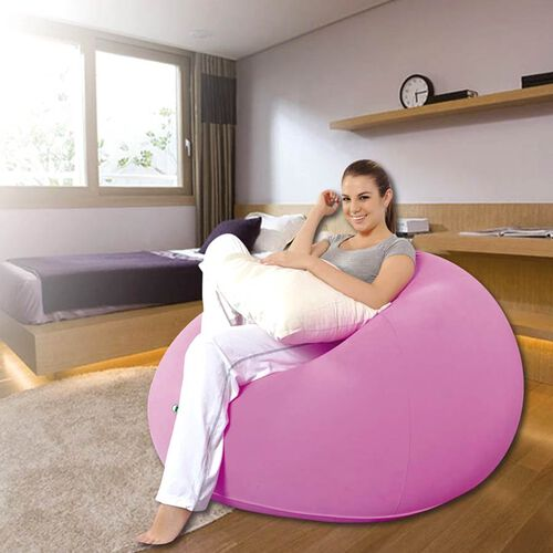 Inflatable and Portable Lazy Chair (Size: 105x105x65cm) - Pink