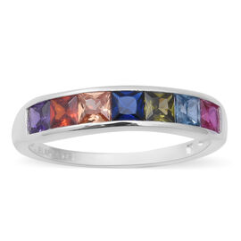 ELANZA Simulated Rainbow Sapphire Ring in Sterling Silver