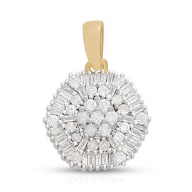 Limited Edition- 9K Yellow Gold SGL Certified Diamond (I3 -GH) (Rnd) Pendant 0.500 Ct.
