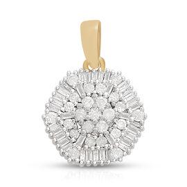 0.50 Carat Diamond Cut Pendant in 9K Gold 1.37 Grams SGL Certified