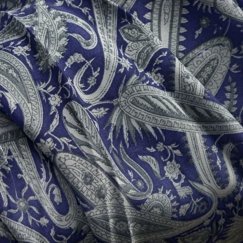 Multi Colour Paisley Pattern Blue Colour Round Apparel