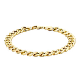 9K Yellow Gold Oval Curb Bracelet (Size 8), Gold wt 7.40 Gms