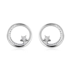 Isabella Liu Twilight Collection Zircon Stud Earrings in Rhodium Plated Silver