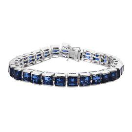 38 Ct Minas Gerais Twilight Quartz Tennis Bracelet in Platinum Plated Silver 25.36 Grams 7.75 Inch