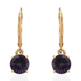 Coated Mystic Topaz (3.25 Ct) 14K Gold Overlay Sterling Silver Earring  3.000  Ct.