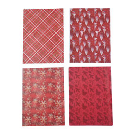 Set of 40 - Christmas Theme Wrapping Gift Papers - Red and Multi