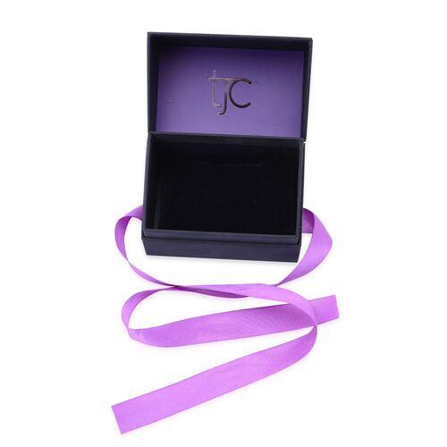 Luxury Black Watch and Bangle Gift Box With Purple Ribbon [10x6.2x8.4cm]