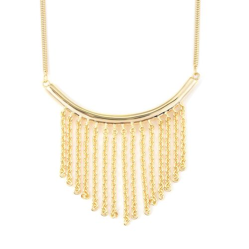 LucyQ Collar Necklace in Gold Plated Silver 11.68 Grams 16 with 4 inch Extender
