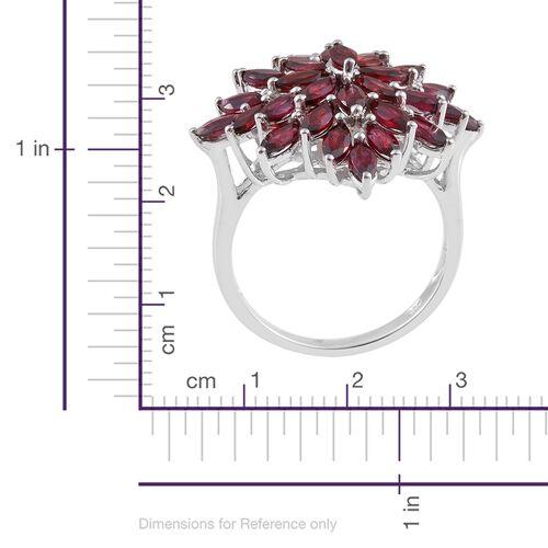 Show Stopper-Arizona Anthill Garnet (Mrq) Cluster Ring in Platinum Overlay Sterling Silver 5.750 Ct.