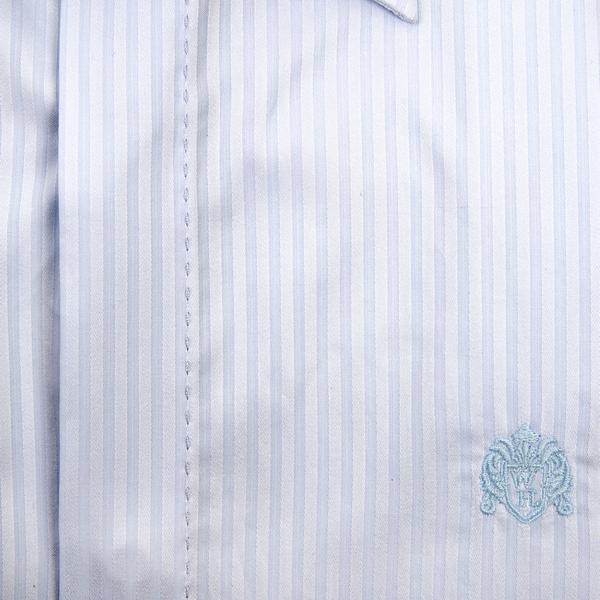 William Hunt Saville Row Forward Point Collar Light Blue Shirt Size 18