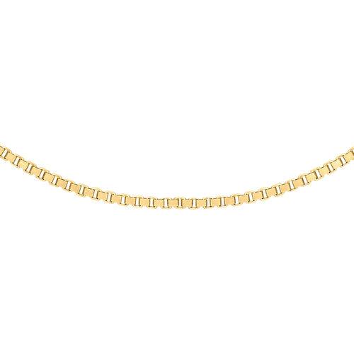 JCK Vegas Collection ILIANA 18K Yellow Gold Venetian Box Chain (Size 24), Gold wt. 3.50 Gms.