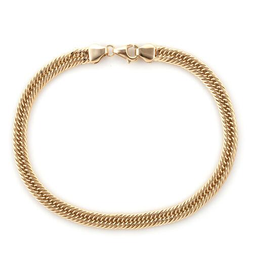 Royal Bali Collection 9K Yellow Gold Foxtail Bracelet (Size 7.5)