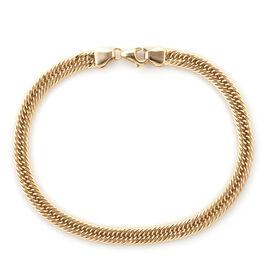Super Auction- Royal Bali Collection 9K Yellow Gold Foxtail Bracelet (Size 8), Gold wt 3.89 Gms.