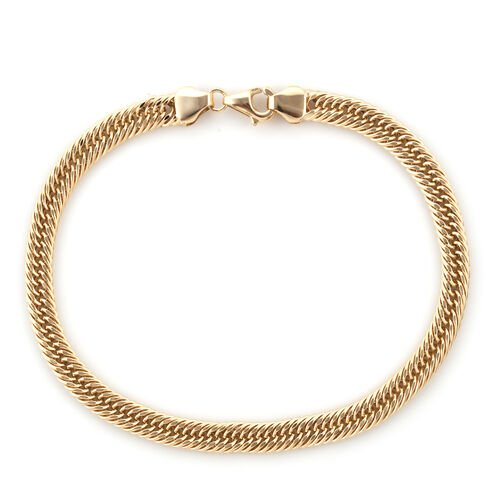 Royal Bali Collection 9K Yellow Gold Foxtail Bracelet (Size 8), Gold wt 3.89 Gms.