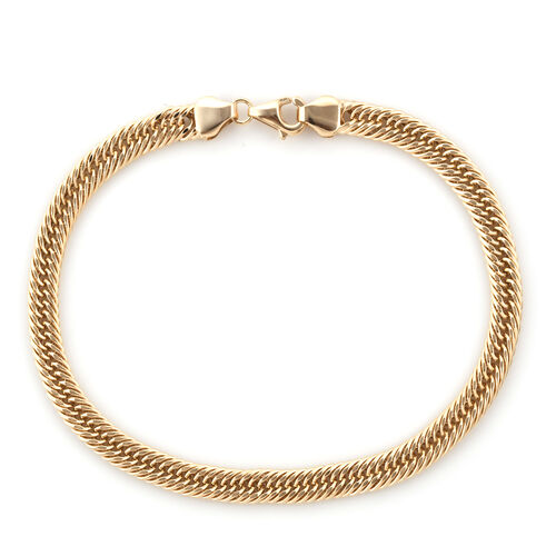 Super Auction- Royal Bali Collection 9K Yellow Gold Foxtail Bracelet (Size 8.5)