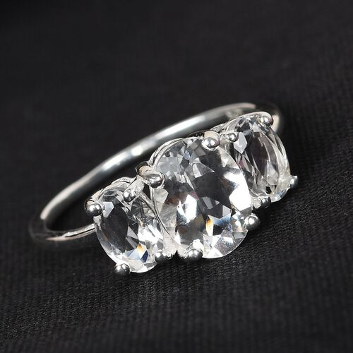 Petalite Trilogy Ring in Sterling Silver 1.75 Ct.