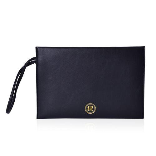 New Season YUAN COLLECTION Classic Black Envelope Clutch / Travel Pouch (Size 25.5x17 Cm)