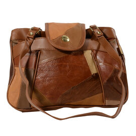 Mega Closeout Deal - Tan Colour Leather Handbag