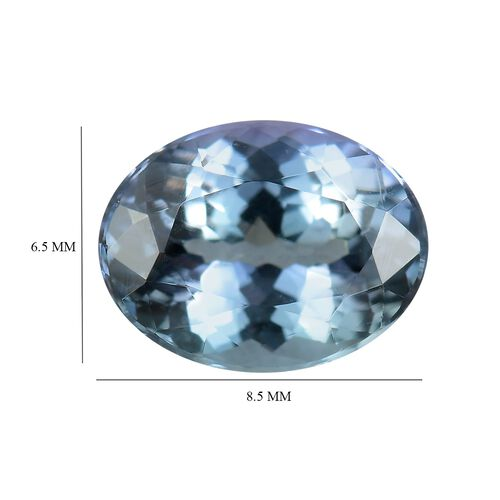 AA Peacock Tanzanite Oval 8.5x6.5 Faceted 1.41 Cts