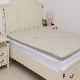 Gel Infused 7 Zone Memory Foam Mattress Topper (Size 150x200x5 Cm) - King