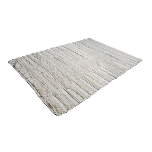 Hand Woven Wool and Cotton Carpet (Size 200x140 Cm) - Off White