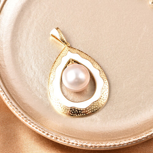 Edison Pearl Pendant in Yellow Gold Overlay Sterling Silver