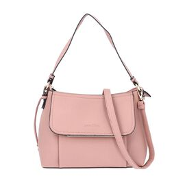 SENCILLEZ Shungite Zipper Closure Satchel Bag with Detachable Shoulder Strap (Size 30x12x22 Cm) - Pi