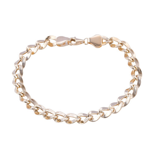 Royal Bali Collection - 9K Yellow Gold Curb Bracelet (Size 7.5) with Lobster Clasp, Gold wt 5.19 Gms