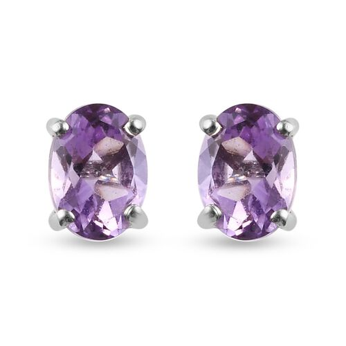 Pink Amethyst Earring in Platinum Overlay Sterling Silver 8.50 ct  8.500  Ct.