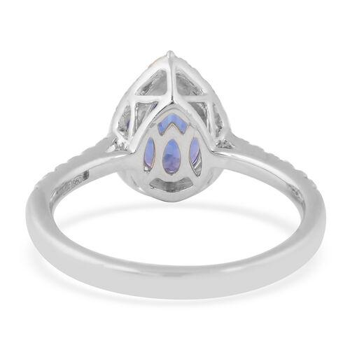 RHAPSODY 950 Platinum AAAA Tanzanite and Diamond Ring 2.01 Ct, Platinum wt. 5.51 Gms