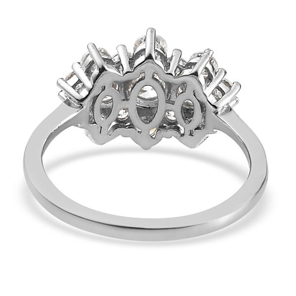 Web Exclusive RHAPSODY 950 Platinum IGI Certified Diamond (VS/E-F) Cluster Ring 1.00 Ct.