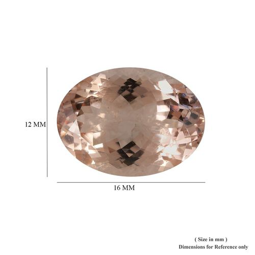 AAA Morganite Oval 16x12 Faceted 8.75 Cts