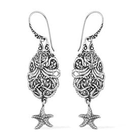 Royal Bali Hook Earrings in Silver 8.83 grams