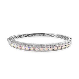 J Francis AB Crystal from Swarovski Stacker Bangle in Platinum Plated 7.5 Inch