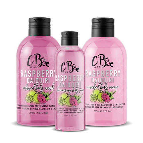 CB and CO Raspberry Daiquiri Cocktail Set - Body Tonic, Body Lotion and Body Wash  Estimated Dispatch 3-5 working days