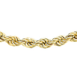 9K Yellow Gold Rope Chain (Size 22), Gold wt 5.52 Gms