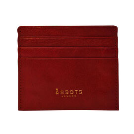 Assots London FANN Credit Card Holder in Red (Size 10x8cm)