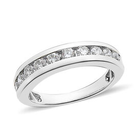 RHAPSODY 950 Platinum IGI Certified Diamond (Rnd) (VS/E-F) Half Eternity Ring 0.500 Ct.