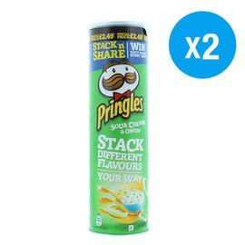 Pringles: Sour Cream & Onion - 200g (Pack of 2)