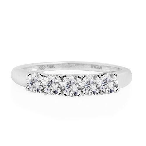 New York Close Out- 14K White Gold Diamond (Rnd) (I2/G-H) Ring 0.750 Ct.