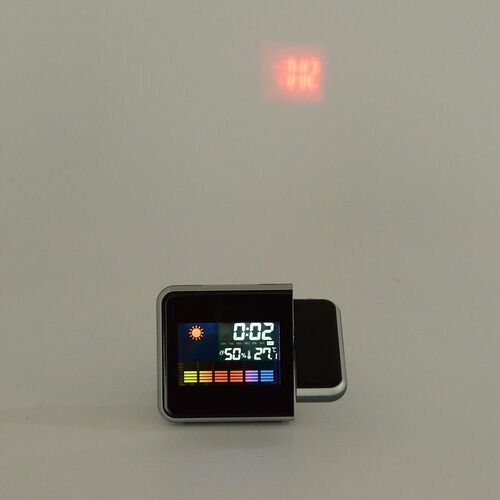 Home Decor - Multifunction Colour Screen Calendar Temperature, Humidity, Time, Alarm, Date and Projector Clock Functions