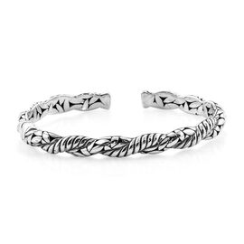 Royal Bali 8 Inch Cuff Bangle in Sterling Silver 27 Grams