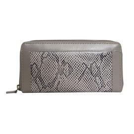 Assots London Animal Print Leather Purse (Size 21x12x2cm) - Grey