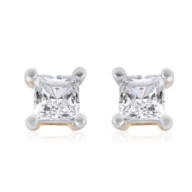 9K Y Gold SGL Certified Diamond (I3/G-H) Stud Earrings (With Push Back) 0.25 Ct.