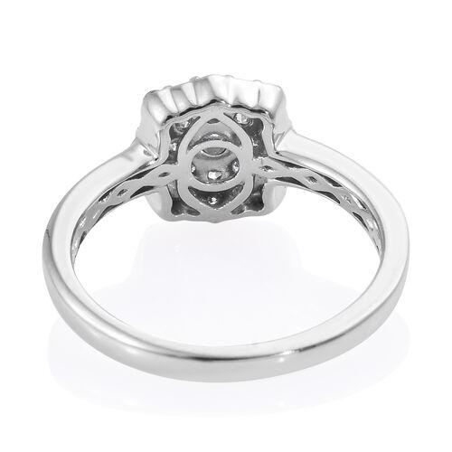 9K White Gold SGL Certified Diamond (Rnd) (I2-I3/G-H) Ring 0.500 Ct.