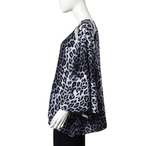 Leopard Pattern One Size Fits All Apparel (Size 67x70 Cm) - Black and White