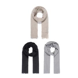 Set of 3 Lightweight Plain Scarves